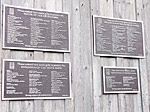 Plaques on the Delta Barn