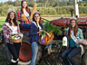 Irrigation Festival Queen Katey and Princesses Kaylee, Kristina and Judi celebrate Local Food Month in September.