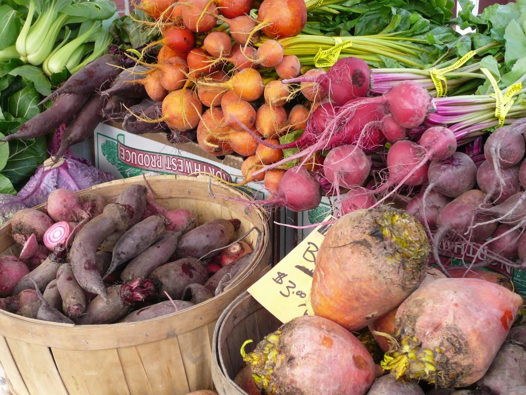 Chiogga beets, gold beets, cylinder beets, and Detroit beets