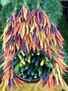 Rainbow carrots and zucchini