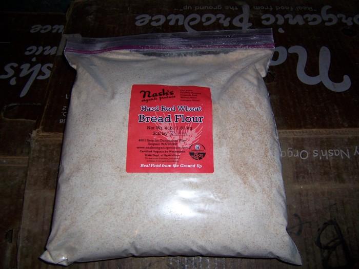 Hard red wheat flour = bread flour