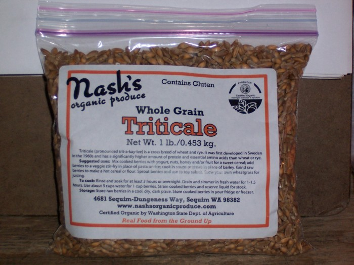 Whole grain triticale berries