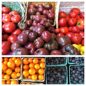 heirloom tomatoes and sungold tomatoes