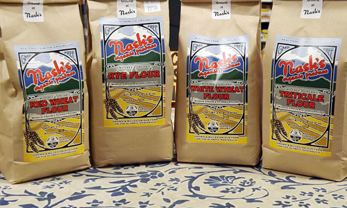Nash's flour in two-pound bags