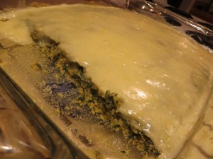 nettle cake with frosting