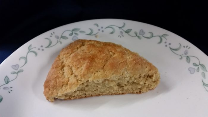 A scone made with Nash's soft white wheat flour